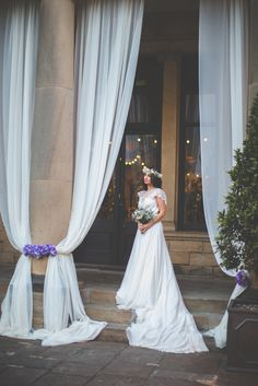 Magical wedding inspiration shoot at Beamish Hall. Bride in gorgeous jenny packman dress. Plenty of inspiration for your wedding photos on your big day. New outdoor ceremony venue in Durham, newcastle
