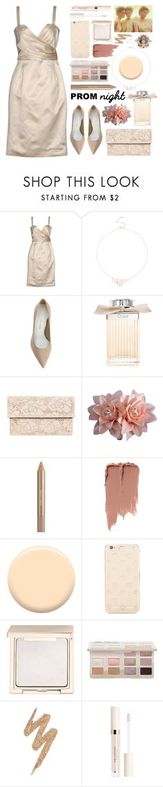 """old school prom"" by foundlostme ❤ liked on Polyvore featuring Christian Dior, Stuart Weitzman, Chloé, Clare V., Estée Lauder, Lauren B. Beauty, Kate Spade, Jouer, Urban Decay and PROMNIGHT"