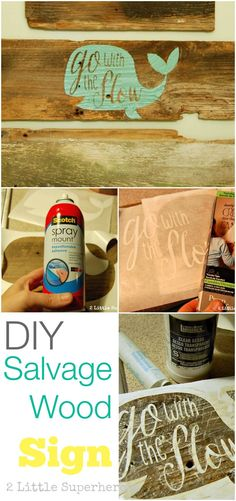 Some great tips on painting with stencils on old salvaged wood boards. #salvage