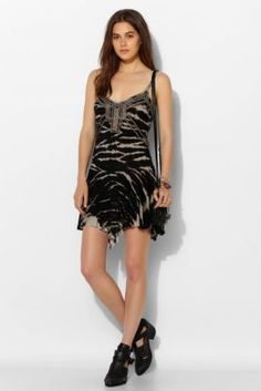 Ecote Miranda Metal Knit Tank Dress