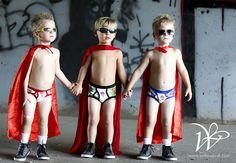 super hero boys photo shoot