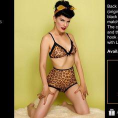 Vintage lingerie  http://www.lucyb.com/Tigress-Soft-Cup-Bra_p_455.html#