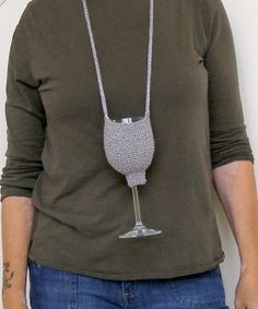 wine night + knitting = knitted wine glass coozies!