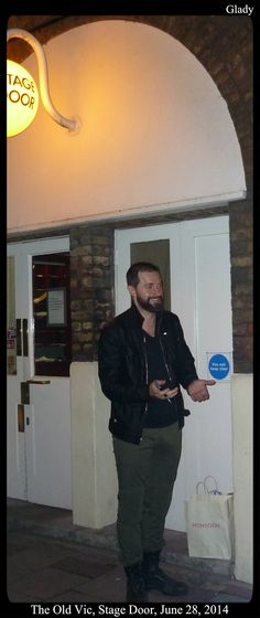 "RA at stage  door on Saturday, June 28th; He said something like ""Time to go to bed"""