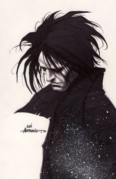 neil gaiman the sandman, the graphic novel series I ever read and loved. To this day I still cry reading it. Neil Gaiman, Illustrations, Illustration Art, Morpheus Sandman, Comic Books Art, Comic Art, Death Sandman, Enter Sandman, Dc Comics