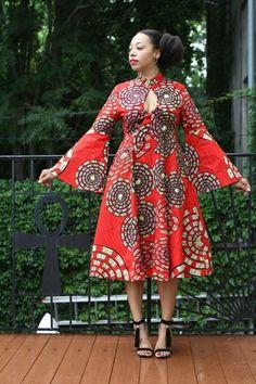 Robe Mariposa Roja MIDI - Ready to Ship - nouveau !