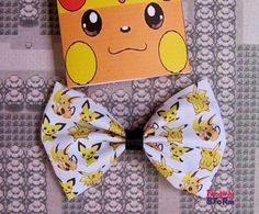 Hey, I found this really awesome Etsy listing at http://www.etsy.com/listing/167658618/pokemon-hair-bow-bow-tie-pichu-pikachu