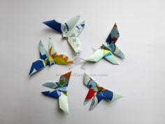 25 origami blue butterflies from La FilACroche by DaWanda.com