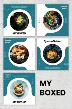 Instagram Feed - My Boxed #food #business #simple #instagram #tamplate #design #graphic #layout #sale #photo Instagram Feed Ideas Posts, Instagram Feed Layout, Feeds Instagram, Instagram Grid, Instagram Design, Like Instagram, Food Graphic Design, Food Menu Design, Graphic Design Layouts