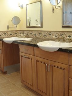 Bathroom remodel for accessibility on pinterest for Kitchen cabinets 90808