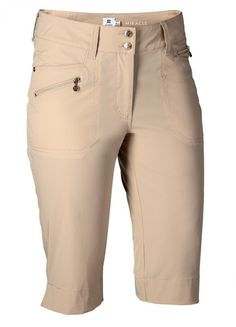 "If you're in the market for some new outfits, consider our women's apparel! Shop this comfortable and stylish GOLD EDITION Straw Daily Sports Ladies LimitedEdition Miracle 24.5"" ZipFront Golf Shorts from Lori's Golf Shoppe."