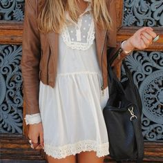 Country Cream Lace Dress | example of dress for senior VIP session country option. would look ...