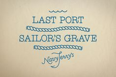 Navy Jerry's by Werklig, via Behance