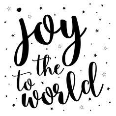 Mooie, hippe christelijke kerstkaart met handgetekende sterren. Joy to the world. Verkrijgbaar bij #kaartje2go voor €1,89