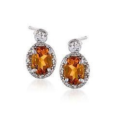 No matter where you are, when you're wearing these glamorous citrine and topaz earrings, you'll feel ready for the red carpet! >>Click on the Citrine Earrings to shop more styles like this at Ross-Simons.