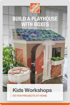 Make learning fun with hundreds of online Kids Workshops from The Home Depot. They can build a tool bench, plant an herb garden or even make a birdhouse. Find an at-home project your kids will love, and help them learn to DIY. Tap to explore Kids Workshops today at The Home Depot.  Crafts To Do, Diy Crafts For Kids, Projects For Kids, Home Crafts, Toddler Fun, Toddler Activities, Activities For Kids, Kids Workshop, Tool Bench