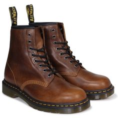 Martens Leather Brown Boots for Men for Sale Dm Boots, Lace Up Boots, Combat Boots, Shoe Boots, Dr. Martens, Dr Martens Men, Mens Brown Boots, Brown Leather Boots, Dr Martin Boots