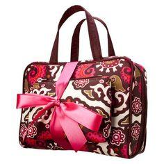 Contents 2 Piece Floral Cosmetic Bag Set