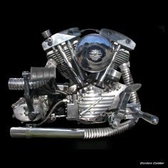 NO 12: CLASSIC HARLEY DAVIDSON SHOVELHEAD ENGINE by Gordon Calder, via Flickr