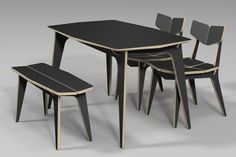 TETRA DINING TABLE / CNC ROUTER /  3D DESIGN / PLYWOOD FURNITURE / 유창석 www.joinxstudio.com