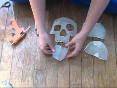 how to make a milk jug skull - great halloween prop