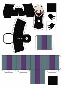 five nights at freddy's 2 the puppet papercraft p1 by Adogopaper