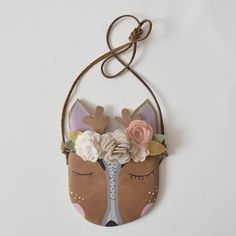 Autumn Sleepy Fawn w/ Floral Felt Crown {Collaboration with The Gipsy  – Willow & Fig Leather Co.