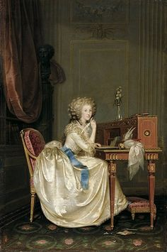 Princess Marie Louise of Savoy (1749-1792) Princess de Lamballe and confidente of French queen Marie-Antoinette | Anton Hickel (1788)