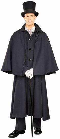 Dickens Overcoat Costume Adult | Mens 19th Century Coat