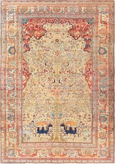 Antique Persian Mohtashem Kashan Carpet 47149 Main Image - By Nazmiyal  http://nazmiyalantiquerugs.com/antique-rugs/persian-rugs/antique-persian-mohtashem-kashan-carpet-47149/