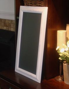 Chalkboard MAGNETIC Long Narrow Distressed Frame 13 by PoshPilfer, $45.00