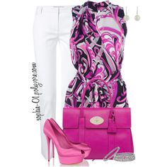 A fashion look from August 2013 featuring Emilio Pucci blouses, Emilio Pucci pants y Casadei pumps. Browse and shop related looks.