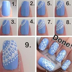 Snowflake Nail Art Tutorial - Step By Step Winter Nail Art Tutorials 2014 For Beginners & Learners Cute Nail Art, Nail Art Diy, Easy Nail Art, Sharpie Nail Art, Winter Nail Art, Winter Nails, Summer Nails, Spring Nails, Nail Art Designs 2016