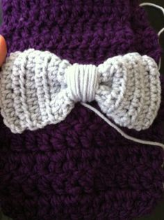 crochet bow for toddler scarf part 2 (bow)