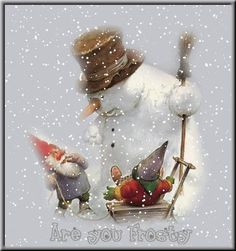 2013 Vintage Christmas Cards and Illustrations: Snowman And Nisse Christmas Gnome, Christmas Art, All Things Christmas, Christmas Decorations, Christmas Ornaments, Illustration Noel, Christmas Illustration, Illustrations, Vintage Christmas Cards