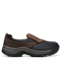 Propet Men's Blizzard Medium/X-Wide/XX-Wide Waterproof Slip On Shoes (Brown/Black Leather)
