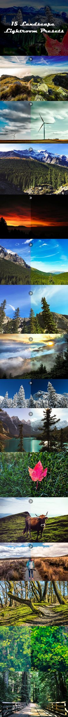 15 Landscape Lightroom Presets by email_templates 15 Landscape Lightroom Presets pack is very professional pack. Every preset work properly. No, destroy preset included in the pack