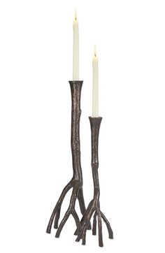 Michael Aram 'Enchanted Forest' Candle Holders (Set of 2) | Nordstrom  holy molly expensive.. i could make something like it