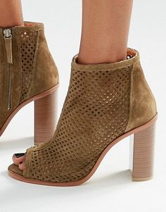 New Look Real Suede Heeled Shoe Boot