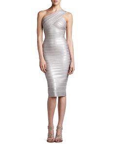 Herve Leger One Shoulder Sequined Dress http://mostlovedclothing.tumblr.com/post/84827971383/herve-leger-one-shoulder-sequined-dress