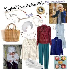 """""Sophia"" from Golden Girls Costume"" by iloveglasses on Polyvore"