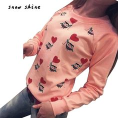 snowshine #2001  Women Long Sleeve Cute Owl Print weatshirts Top Casual Blouse Shirt free shipping-in Hoodies & Sweatshirts from Women's Clothing & Accessories on Aliexpress.com | Alibaba Group