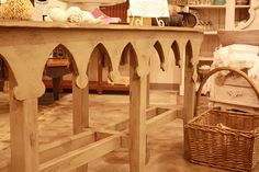 Love this cathedral table