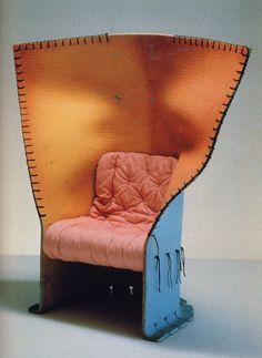 """Feltri"" armchair by Gaetano Pesce, Italy Furniture Board, Funky Furniture, Cheap Furniture, Unique Furniture, Shabby Chic Furniture, Furniture Design, Bedroom Furniture, Decoration, Art Decor"