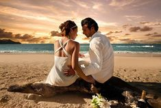 Casal de Amor na Praia