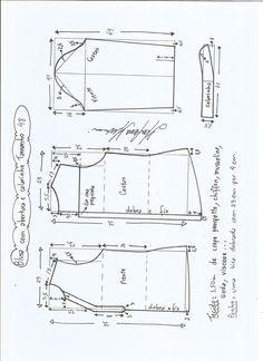 Patrón blusa con abertura | Patrones gratis