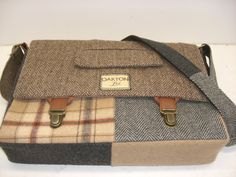 recycled suit messenger bag $110 from sewmuchstyle on Etsy - a wonderful, practical gift for the men in my life!