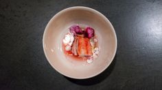 king crab, rhubarb, ginger, cream, rose geranium | Flickr - Photo Sharing!