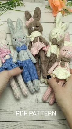 Amigurumi bunny toy crochet PATTERN for baby shower favors. Amigurumi pattern crochet animals ideal for Baby toys and Newborn photo prop Stuffed Bunny PATTERN amigurumi crochet - amigurumi toy - crochet animal pattern - Plush toy pattern Crochet Animal Patterns, Stuffed Animal Patterns, Crochet Animals, Crochet Patterns Amigurumi, Crochet Bunny, Crochet Dolls, Baby Toys, Plush Pattern, Newborn Photo Props