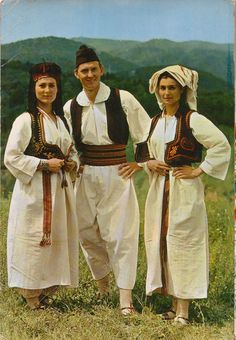 Some Bosnians in traditional dresses ( 60s_70s_80s_Postcards Image )
